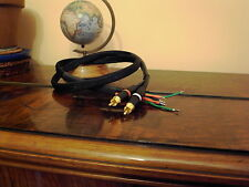 Turntable interconnect phono cable kit, goldplated NEUTRIK plugs CANARE cable
