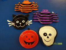 "Halloween Party Supplies Carnival 4"" Mini Plastic Snack Tray Assortment - 5 pc."