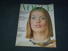 1965 JULY VOGUE MAGAZINE - VERUSCHKA COVER PHOTOGRAPHED BY IRVING PENN - B 5241