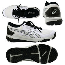 Asics Japan Zapatos de Golf Gel Curso Planear Suave Spike 1111A085 Blanco Negro