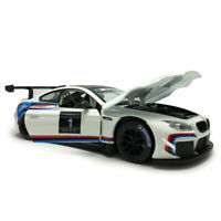 1/24 Scale BMW M6 GT3 Racing Car Model Car Metal Diecast Collection White Gift