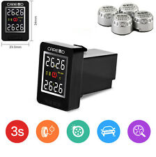 TPMS PSI/BAR Wireless Tire Pressure Monitor System+4 External Sensors For Toyota