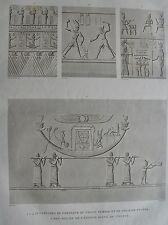 ILE DE PHILAE . (pl. 11, A. vol. I). Sculptures du portique.. DESCRIPTION EGYPTE
