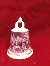 Ak Kaiser West Germany Winter Horse Drawn Mail Sleigh Porcelain Bell