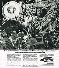 PUBLICITE ADVERTISING 104  1974  SONY   magnétophone à cassette TC 152SD