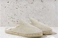 Oas Tan Suede Espadrille Slip On Mules Slides Flats Size 41 Eu 10.5 Us