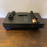 Sony PS2 Fat Console + 2 8MB Memory, Power Cord & Av Cables Tested Playstation 2