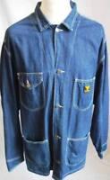 Vintage Hard Yakka 1930 s Style Retro Denim Chore Barn Farm Worker Coat Jacket