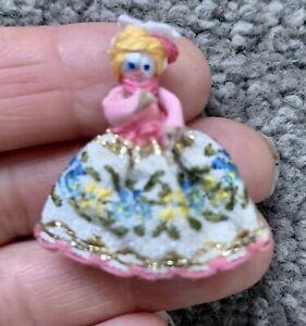 Artisan Tiny Princess Type DOLL Vtg Artist Dollhouse Nursery Toy So CUTE NR!