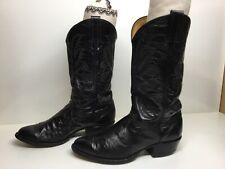 MENS TONY LAMA COWBOY LIZARD SKIN BLACK BOOTS SIZE 9.5 D