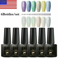 6Bottles/Set MTSSII 6ML Glitter UV Gel Nail Polish Soak Off Nail Gel Varnish Kit