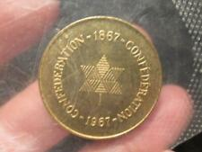 Canada 1867-1967 Brass Confederation Centennial Token New in Package