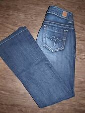 Guess Womens Size 27 Daredevil Boot Low Rise Stretch Dark Wash Jeans