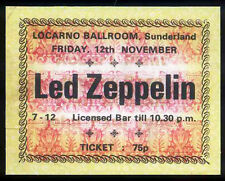 LED ZEPPELIN REPRO 1971 SUNDERLAND LOCARNO BALLROOM CONCERT TICKET
