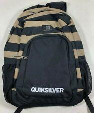 Quicksilver Boys Backpack Shoulder Bag Black Brown Canvas School Supplies Sample