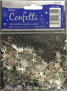 10mm Silver Star Party Table Confetti Foiletti Decoration Fancy Dress Party Prop