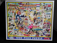 """Complete Pre Owned #1965 White Mountain 1000 PC Jigsaw Puzzle """"THE FIFTIES"""""""
