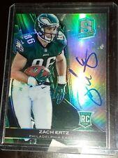 Zach Ertz 2/5 2013 Panini Spectra Rookie Autograph Auto Green #240