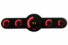 LED Universal Analog Bar Graph 5.5 Gauge Panel w/ Red Leds! Customize your Dash!