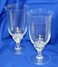 SET OF 2 Sasaki Hawthorne Clear Crystal ICED TEA GOBLETS Multiples Available