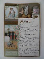 Alte Liebig Menükarte 1898  OEDIPUS und die SPHINX  (1)  Speisekarte