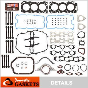 Fits 05-08 Infiniti FX35 G35 M35 3.5L DOHC Full Gasket Set Bolts VQ35DE