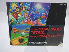 Anleitung - Bedienungsanleitung NES - Tetris / World Cup / Super Mario Bros