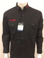 NWT Wrangler Logo Rodeo Western Embroidered Long Sleeve BLACK.(2XL) Shirt