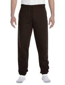 Russell Athletic Dri-Power Closed Bottom Sweatpants - Adult XL - Seal Brown