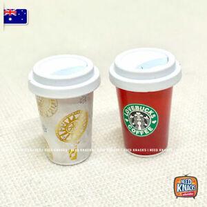 Mini Coffee Cup Set of 2 - Miniature Dollhouse Accessories 1:12