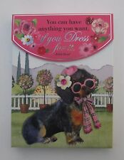 bb Dachshund You can be anything you want PURSE NOTE PAD Punch Studio 75 sheets