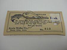 Vintage Weller Weedless Treble Hook Erwin Weller 810