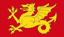 WESSEX FLAG 5' x 3' Anglo Saxon Gold Wyvern Dragon English England County Flags