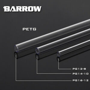 Barrow 2 x PETG Coloured Tubes 500mm Tube Size 12mm 14mm 16mm For Water Cooling