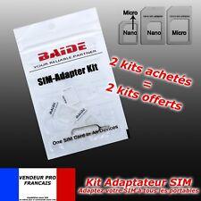 kit 4 en 1 adaptateur carte SIM Micro SIM nano SIM Iphone 6 samsung nokia lg