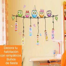 Vinilos decorativos infantiles Buhos de fiesta. DOCLIICK DC-1047-17