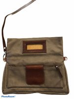 Pelle Beige Brown Leather Italian womens crossbody shoulder bag purse handbag