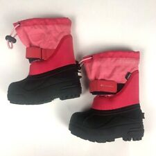 Columbia Toddler Girl Winter Snow Boots Size 7 Pink Insulated Waterproof