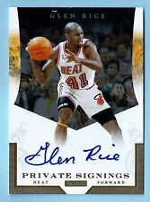 GLEN RICE 2012/13 TOTALLY CERTIFIED PRIVATE SIGNINGS SIGNATURE AUTOGRAPH AUTO
