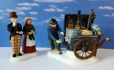 DEPT 56 Dickens Village THE COFFEE STALL Set of 2!    New