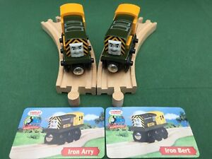 Thomas and Friends Wooden Railway - Iron 'Arry & Bert with Collector's Card Used