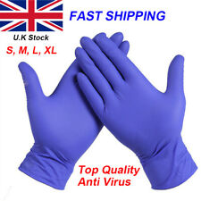 More details for disposable gloves blue multipurpose strong powder latex free gloves size s-m