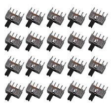 20pcs Mini Slide Switch SPDT 2.0mm Pitch 2 Tap Position 3Pin U
