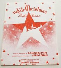 Partition vintage sheet music FRANCIS BLANCHE : Noël Blanc (White Christmas)