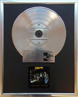 "Marillion Clutching at str CD/Cover gerahmt +12"" Deko goldene Vinyl Schallplatte"