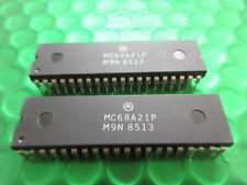Adaptador de interfaz periférico MC68A21P, procesadores DIP40 M6800 NUEVO Original de la parte