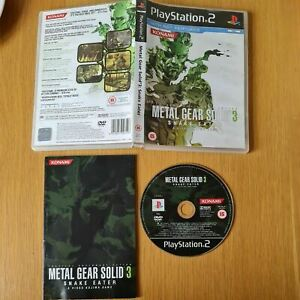 METAL GEAR SOLID 3: SNAKE EATER PLAYSTATION 2 PS2 PAL GAME COMPLETE WITH MANUAL