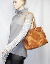 GHIBLI Vera Pelle Leather Woven Tote Double Handle Bag ITALY NWT falor falorni