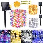 Outdoor Solar String Lights Copper Wire Waterproof 100/200 LED Garden Decor