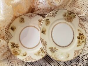 Hermann Ohme Old Ivory set of 6 Dinner Plates #84